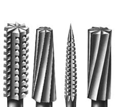 Burs and cutters of many types, busch burs, carbide burs, diamond