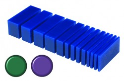 Cut Wax Blocks - Blue