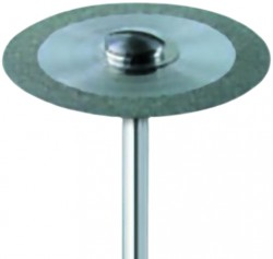 Diamond Discs Mounted - Fine Grit - D1 = ø 14 mm, L1 = 0,17 mm, D3 = 11 mm