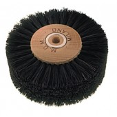Black Animal Bristle Brush - ø 120 mm